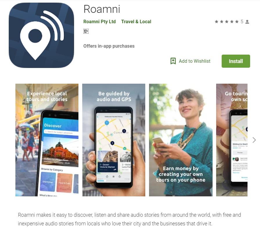 Roamni App Store
