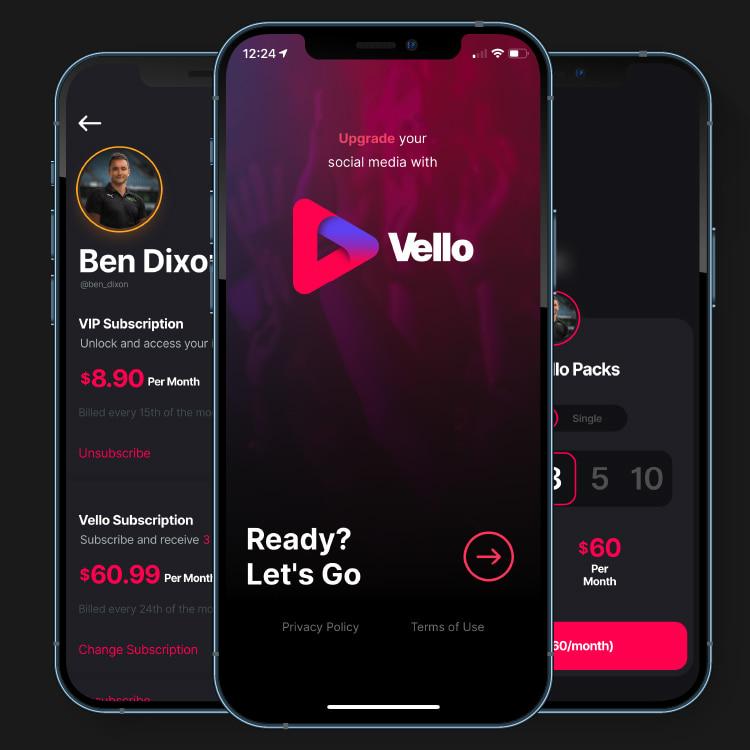 Vello Social Media by Appetiser App Development