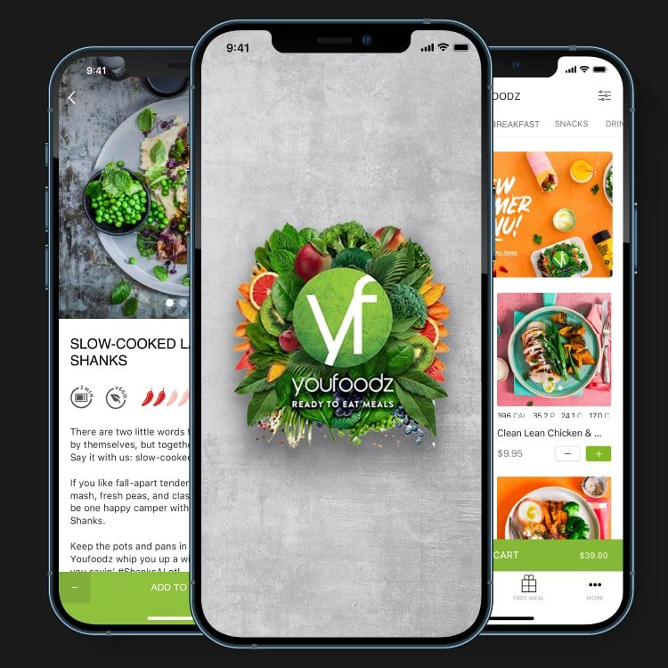 Youfoodz Home Screen by Appetiser App Development